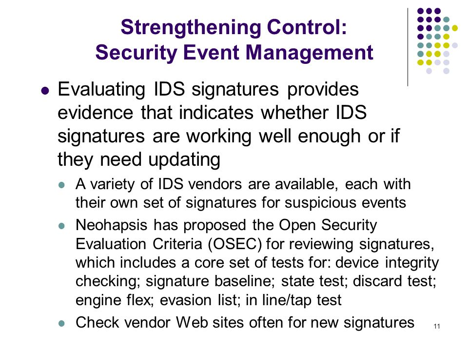 Strengthening Control: Security Event Management