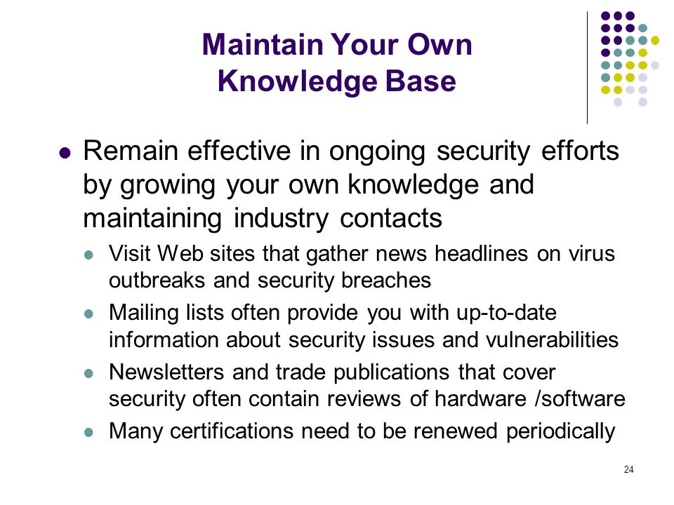 Maintain Your Own Knowledge Base