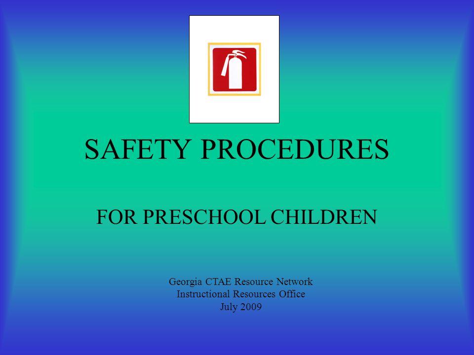 FOR PRESCHOOL CHILDREN