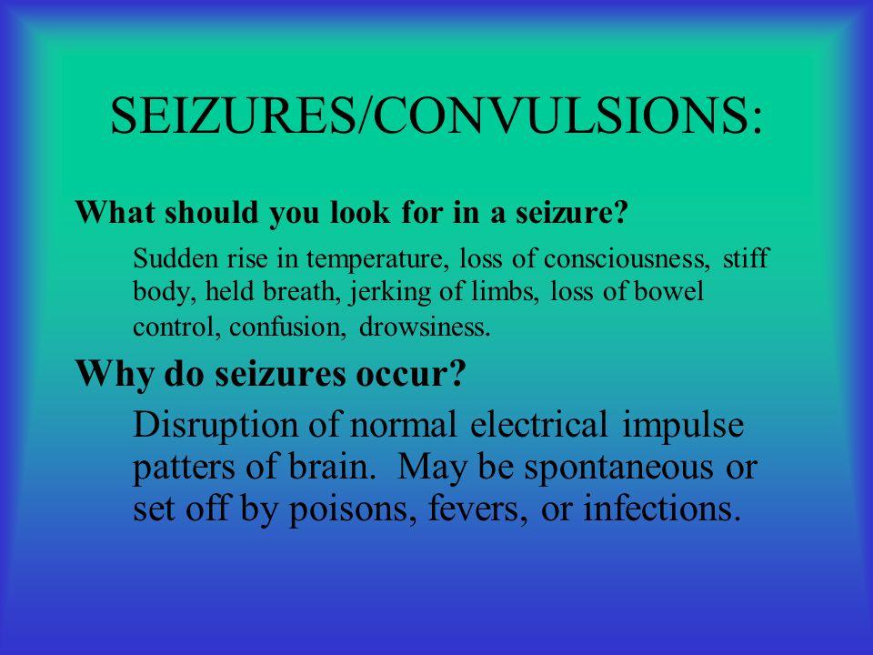 SEIZURES/CONVULSIONS: