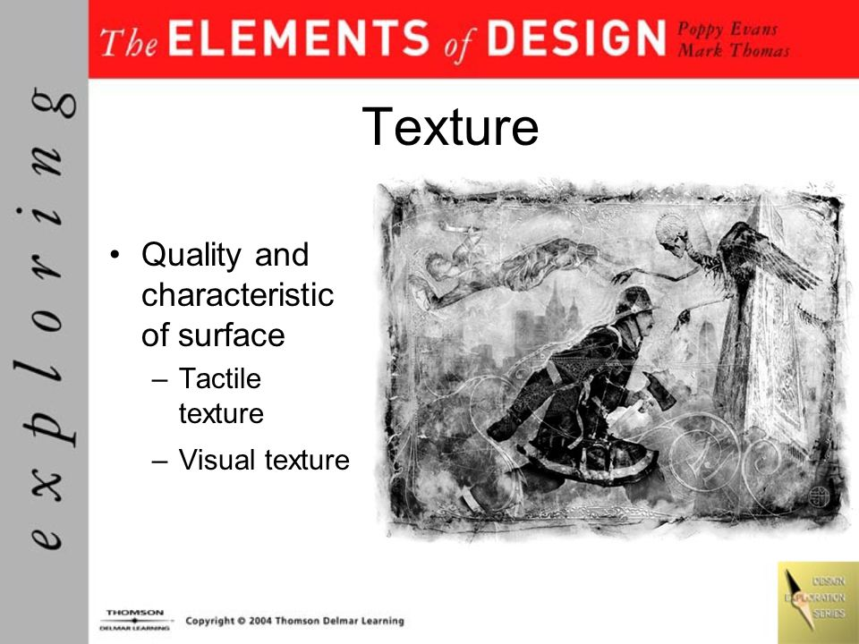 Texture Quality and characteristic of surface Tactile texture