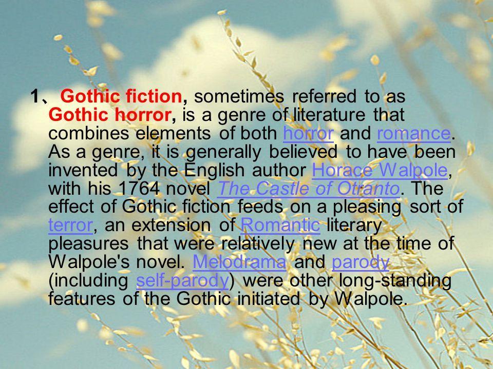 一、 Gothic elements of items