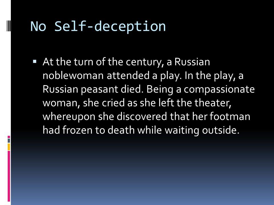 No Self-deception