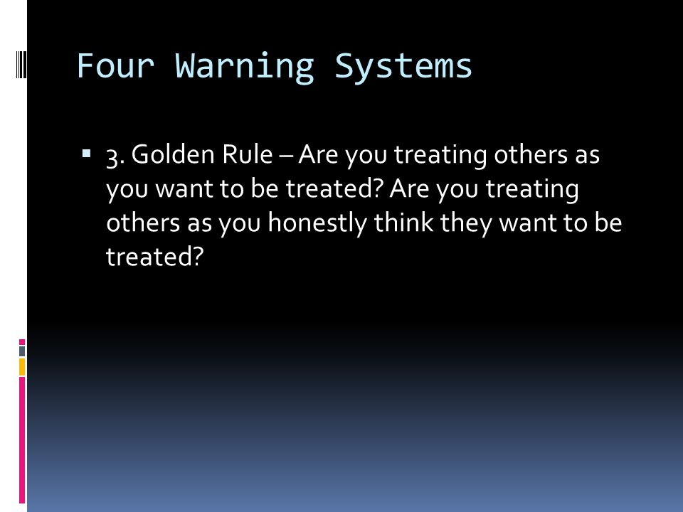 Four Warning Systems