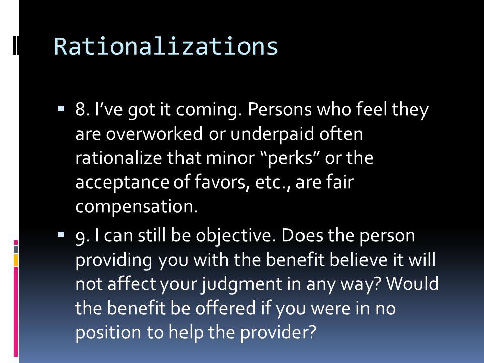 Rationalizations
