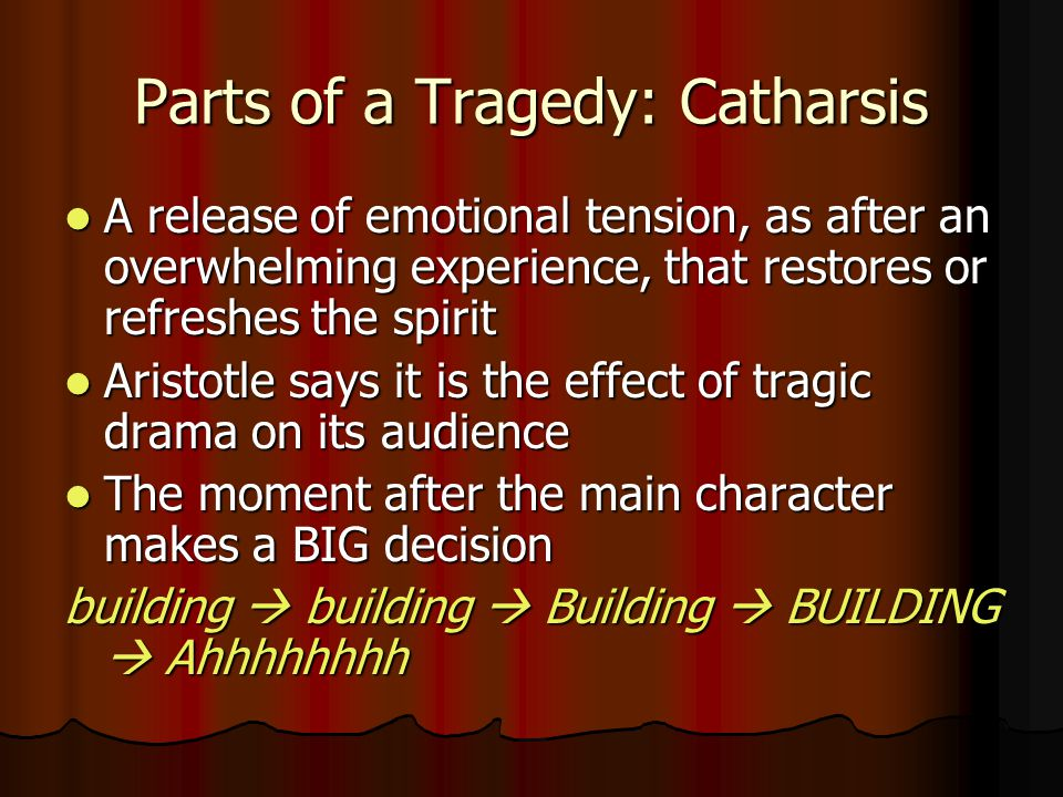 Parts of a Tragedy: Catharsis