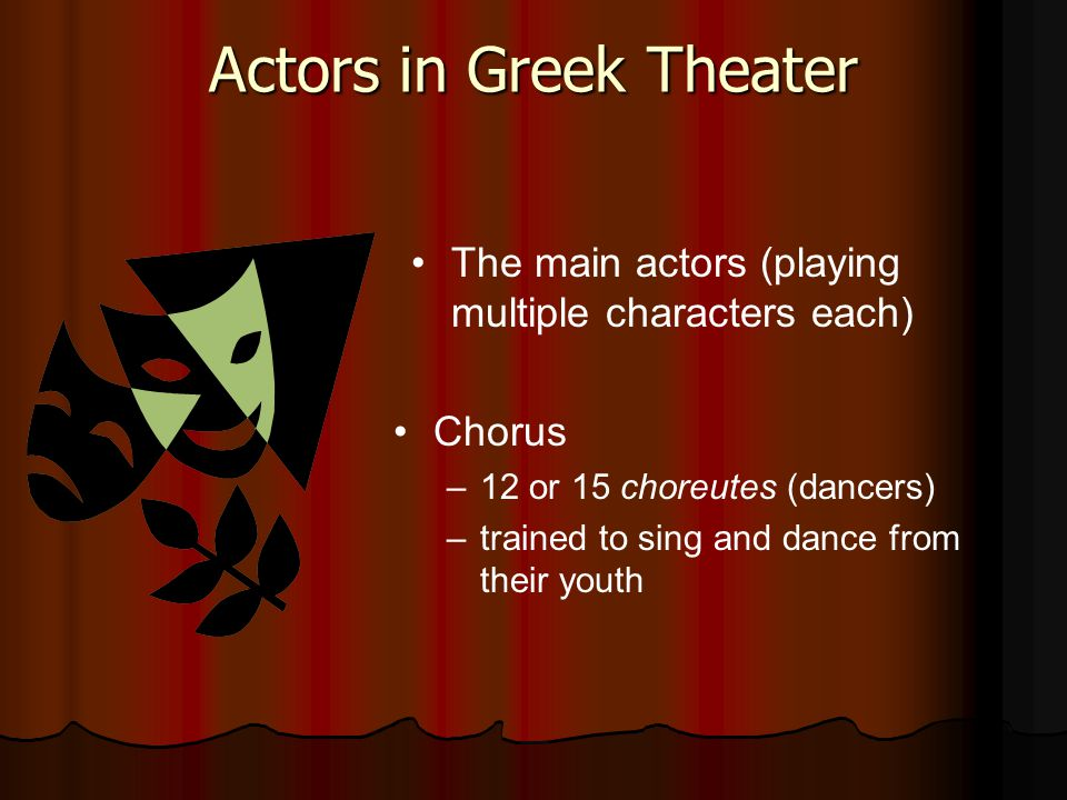 Actors in Greek Theater