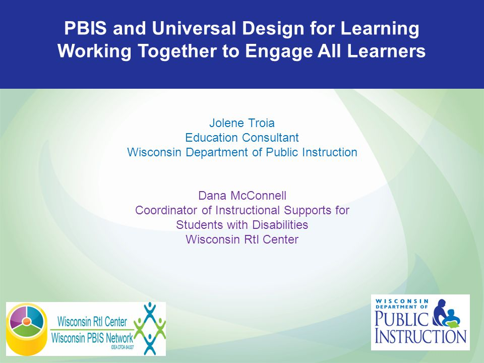 PBIS and Universal Design for Learning Working Together to Engage All Learners