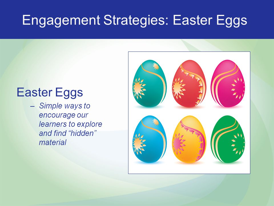 Engagement Strategies: Easter Eggs