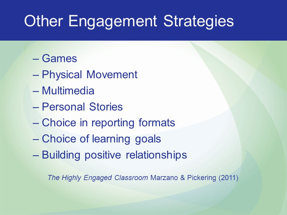 Other Engagement Strategies