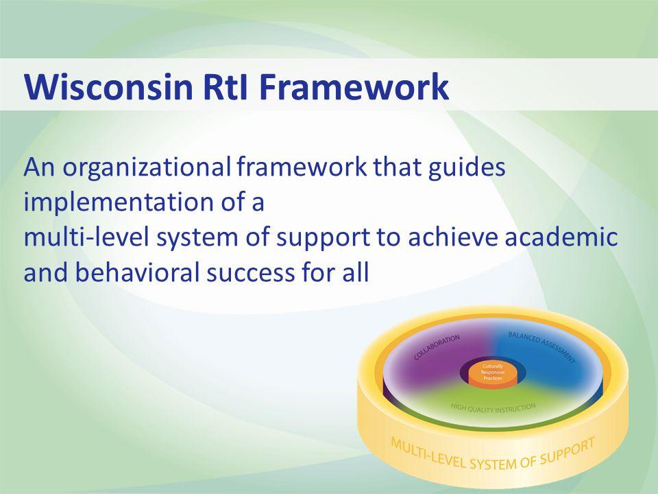 Wisconsin RtI Framework