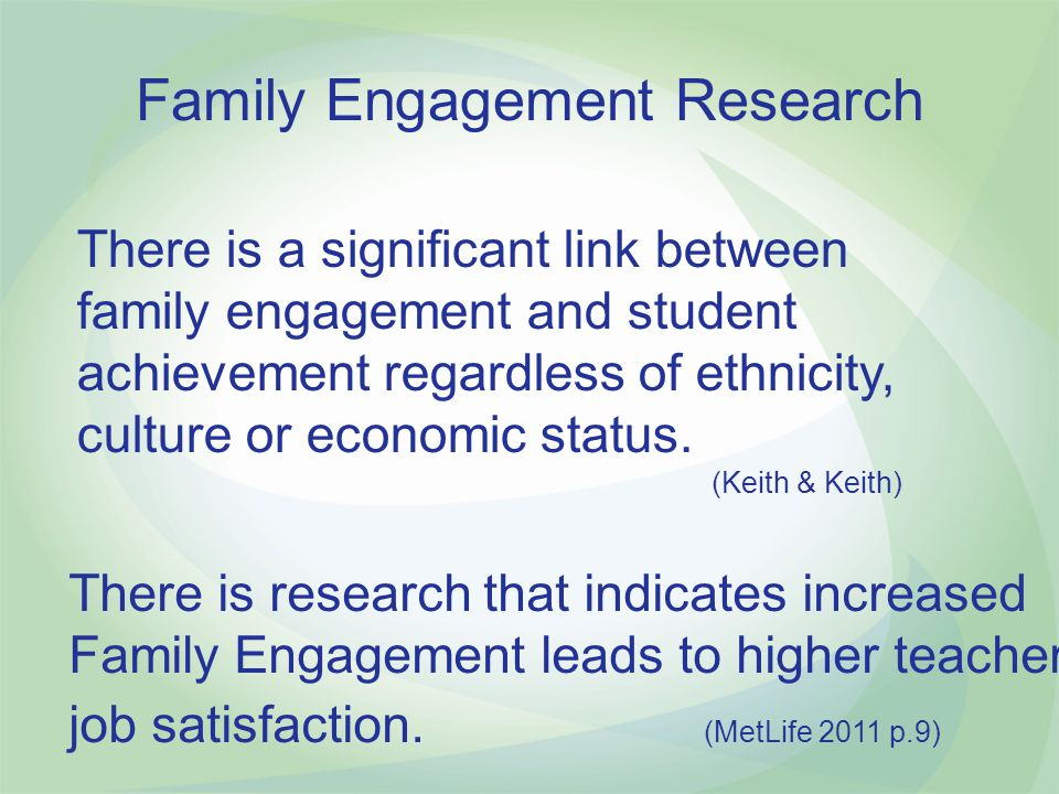 Family Engagement Research