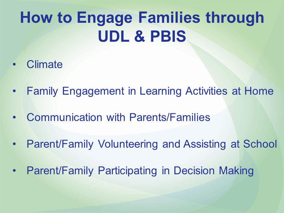 How to Engage Families through UDL & PBIS