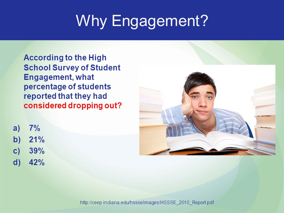 Why Engagement