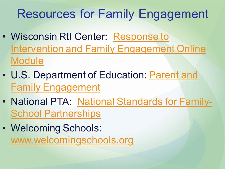 Resources for Family Engagement