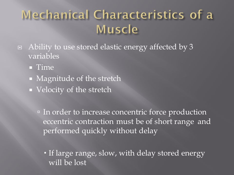 Mechanical Characteristics of a Muscle