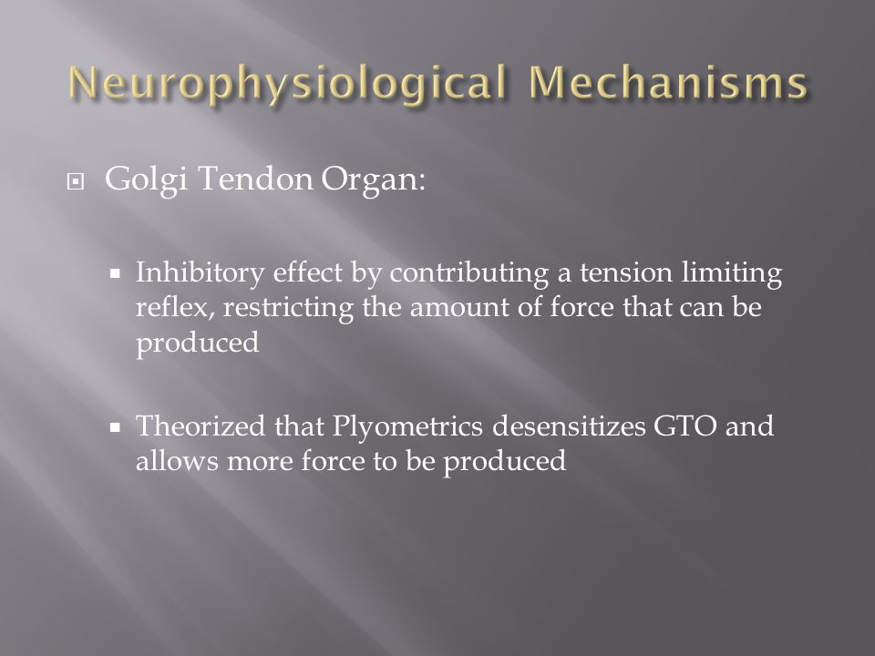 Neurophysiological Mechanisms