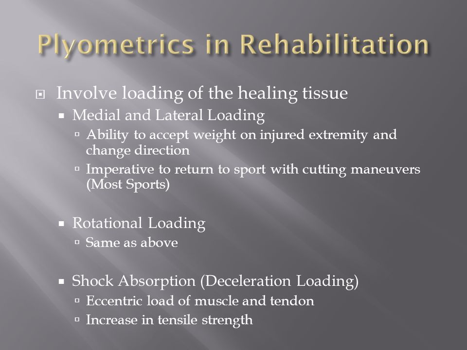 Plyometrics in Rehabilitation