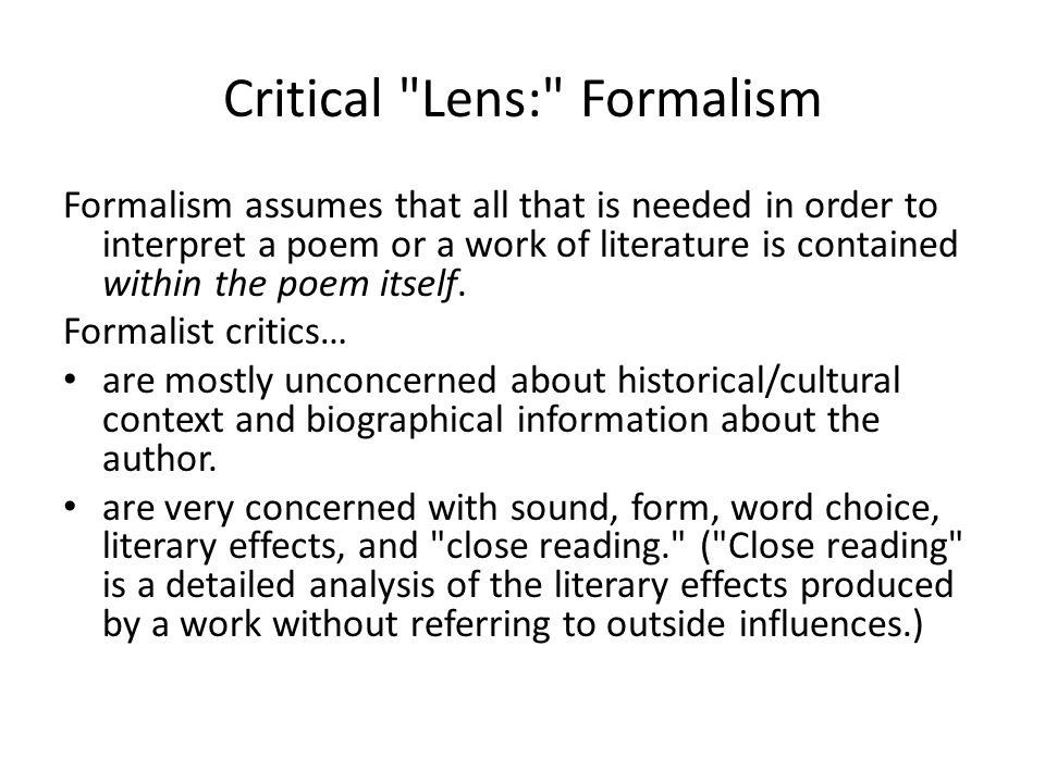 Types of Literary Lenses