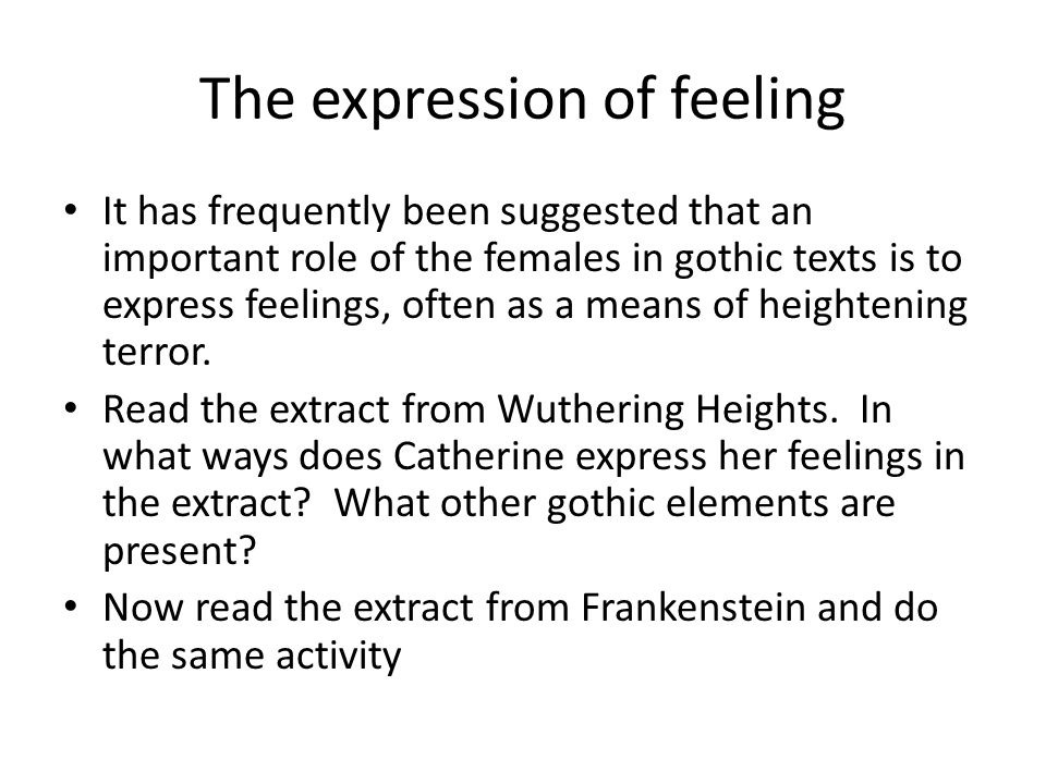 The expression of feeling