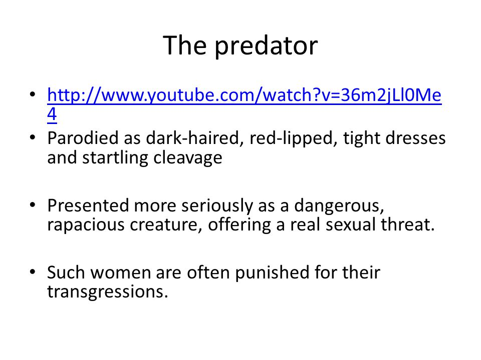 The predator http://www.youtube.com/watch v=36m2jLl0Me4