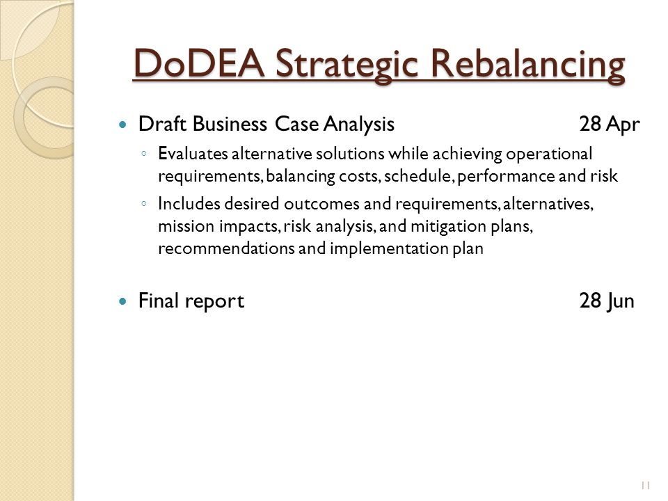 DoDEA Strategic Rebalancing