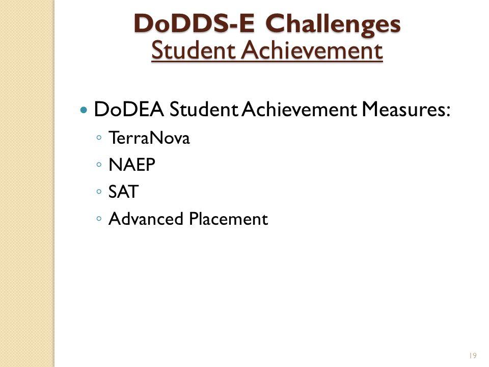 DoDDS-E Challenges Student Achievement
