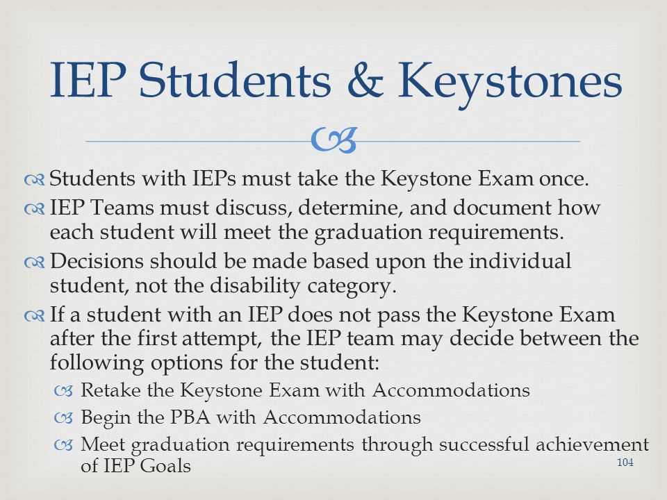 IEP Students & Keystones