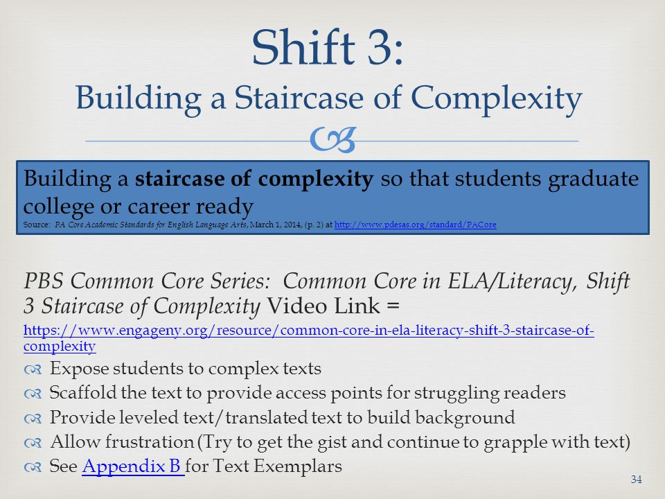 Shift 3: Building a Staircase of Complexity