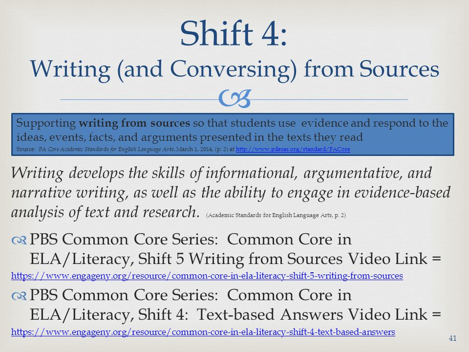 Shift 4: Writing (and Conversing) from Sources