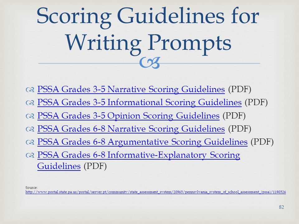 Scoring Guidelines for Writing Prompts