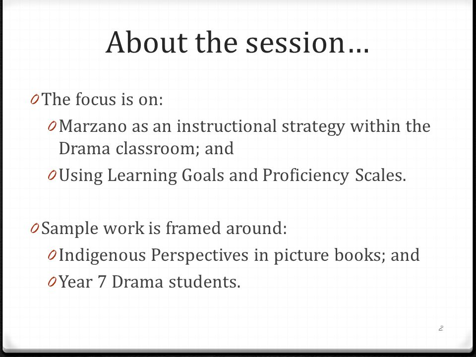 About the session… The focus is on: