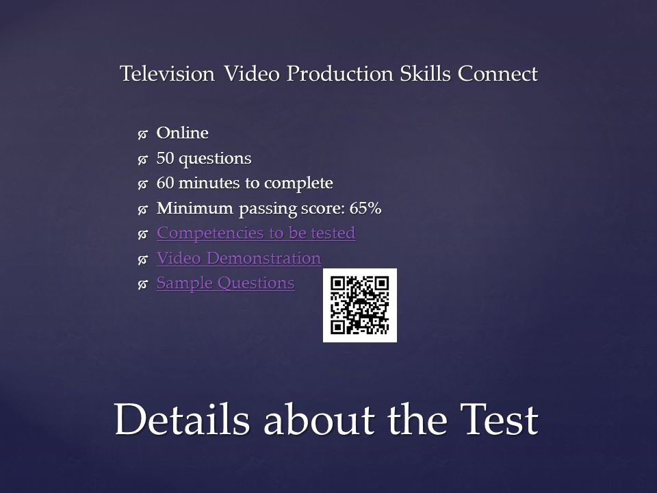Television Video Production Skills Connect