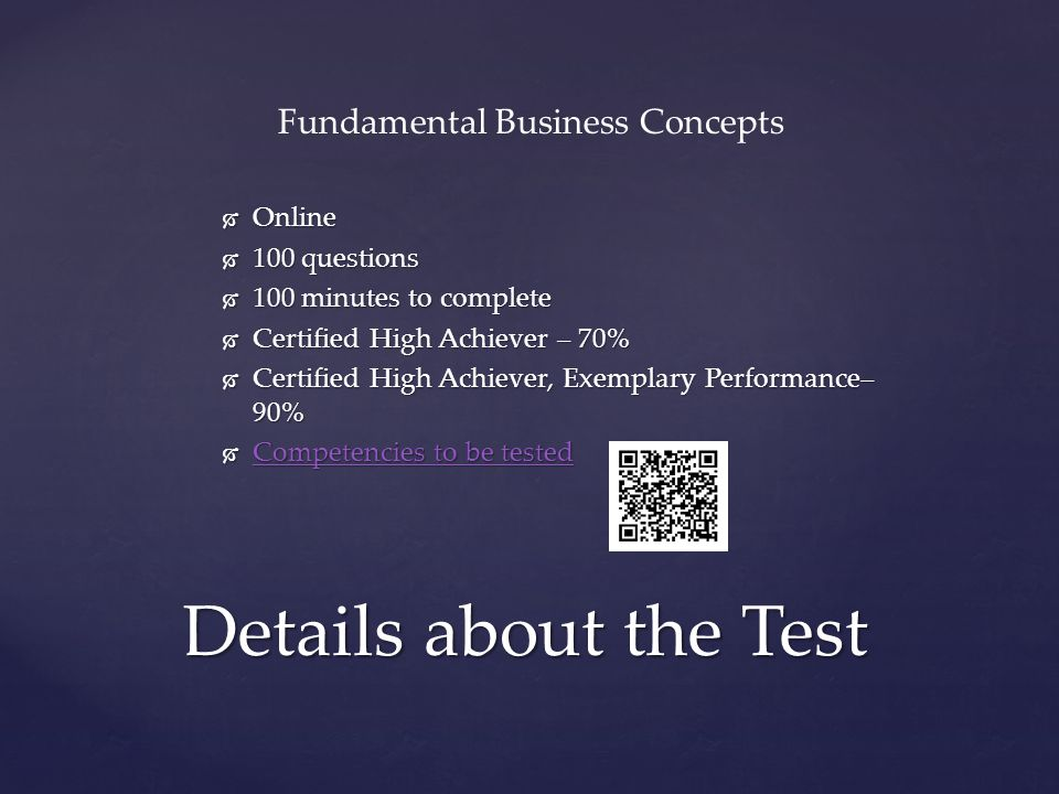 Fundamental Business Concepts