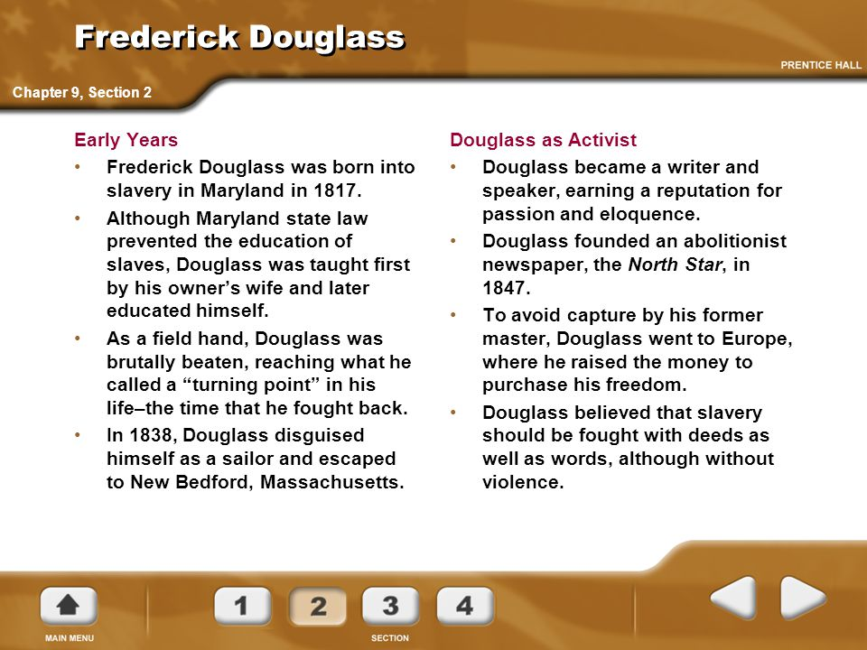 Frederick Douglass Early Years