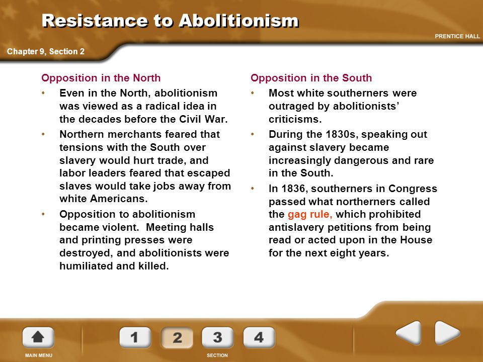 Resistance to Abolitionism