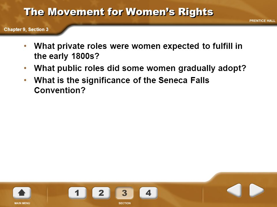 The Movement for Women's Rights