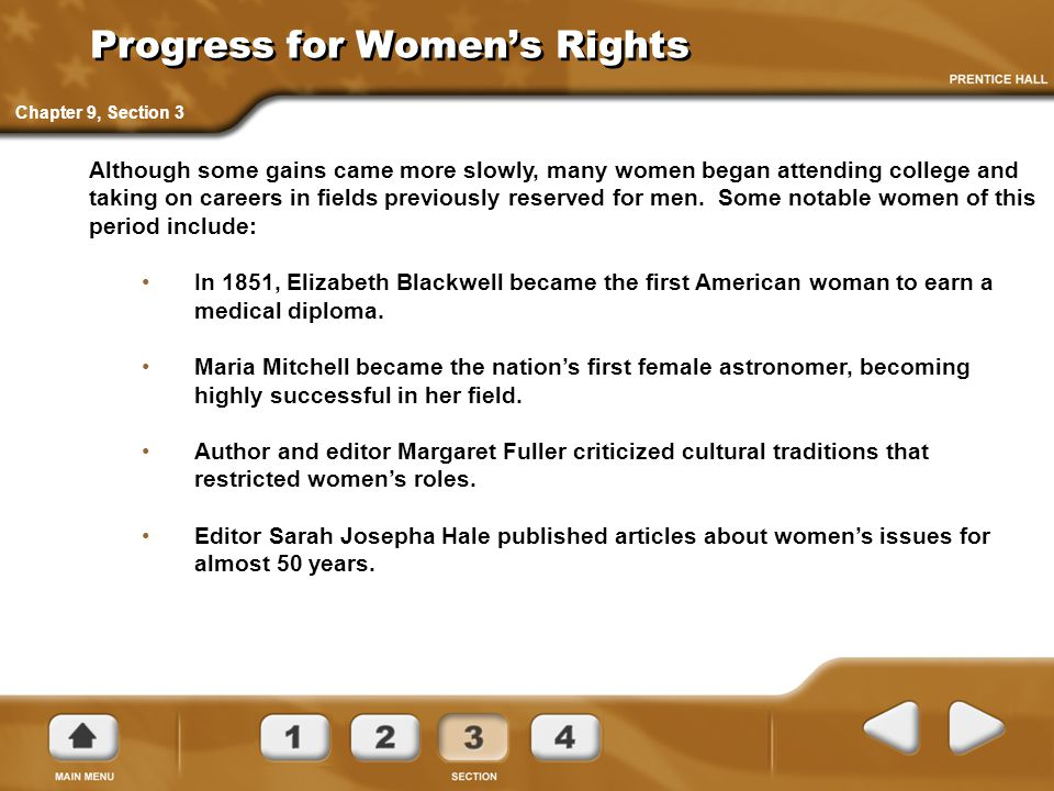 Progress for Women's Rights