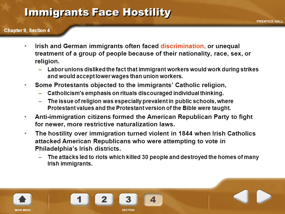 Immigrants Face Hostility