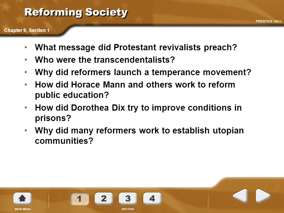 Reforming Society What message did Protestant revivalists preach
