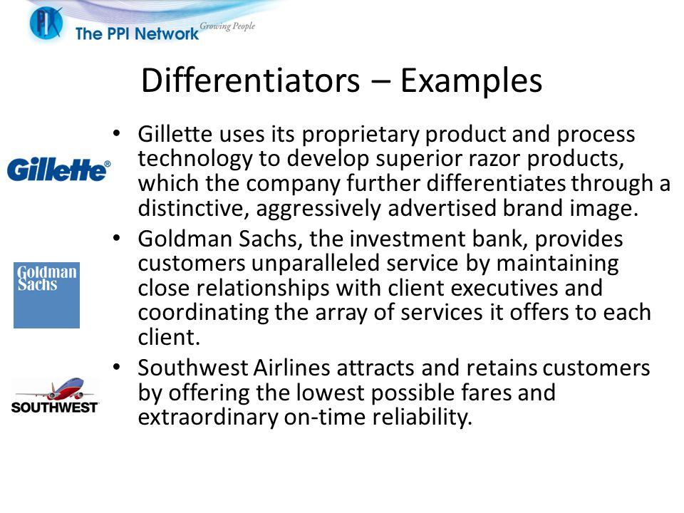 Differentiators – Examples