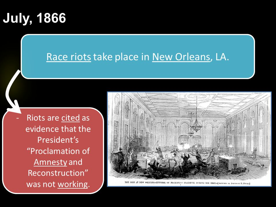 Race riots take place in New Orleans, LA.