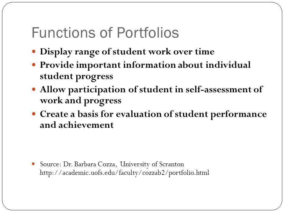 Functions of Portfolios