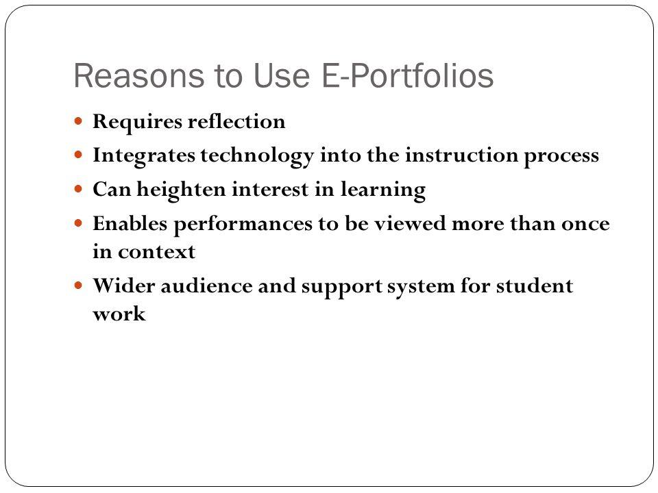 Reasons to Use E-Portfolios