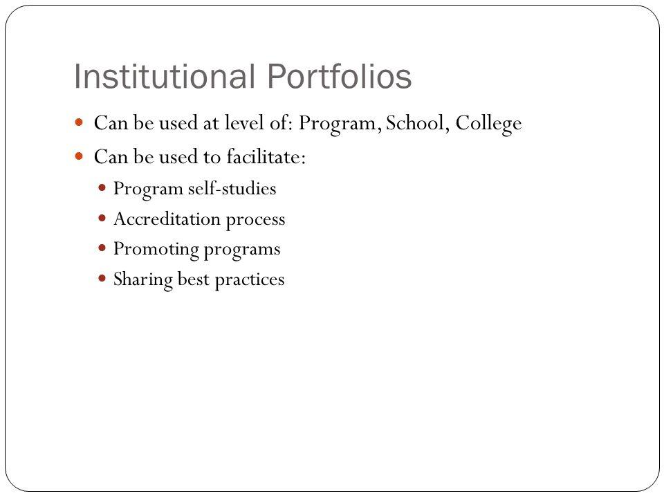 Institutional Portfolios