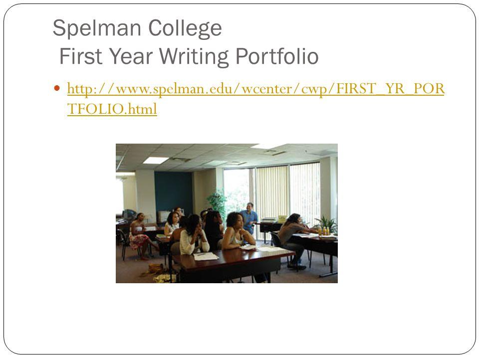 Spelman College First Year Writing Portfolio
