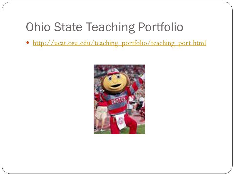 Ohio State Teaching Portfolio