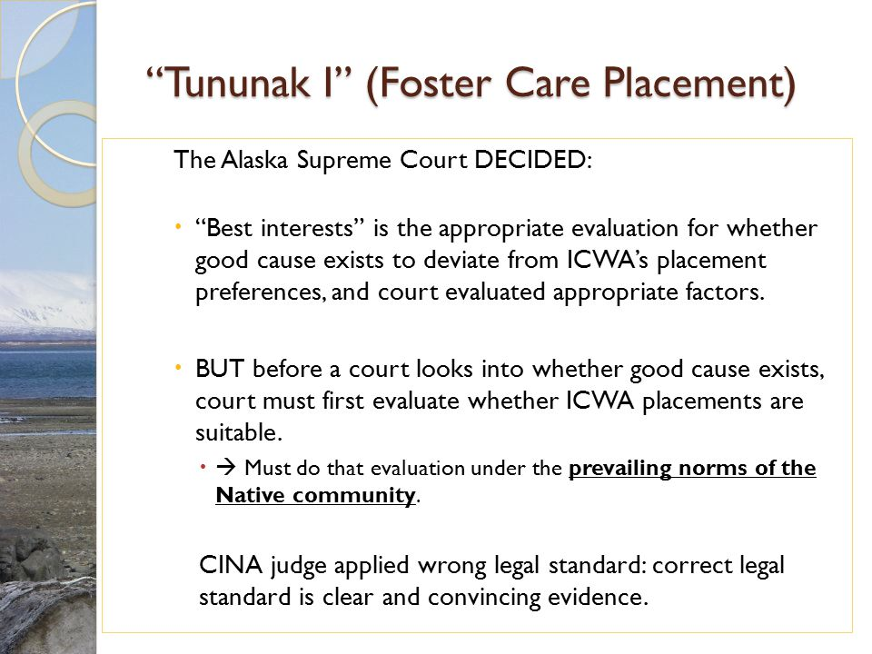 Tununak I (Foster Care Placement)