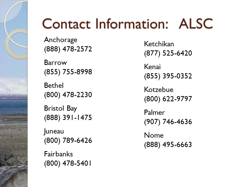 Contact Information: ALSC