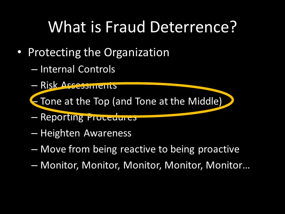 What is Fraud Deterrence